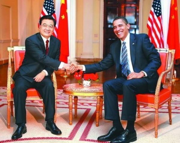 胡锦涛会见美国总统奥巴马图片