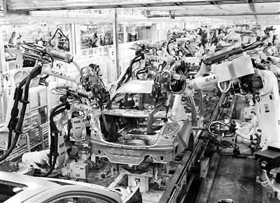 北京现代汽车有限公司杨镇工厂全自动生产线.