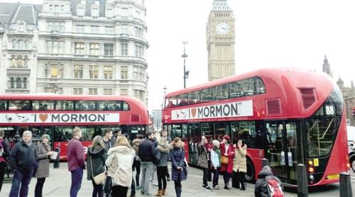 英国著名景点伦敦大本钟附近